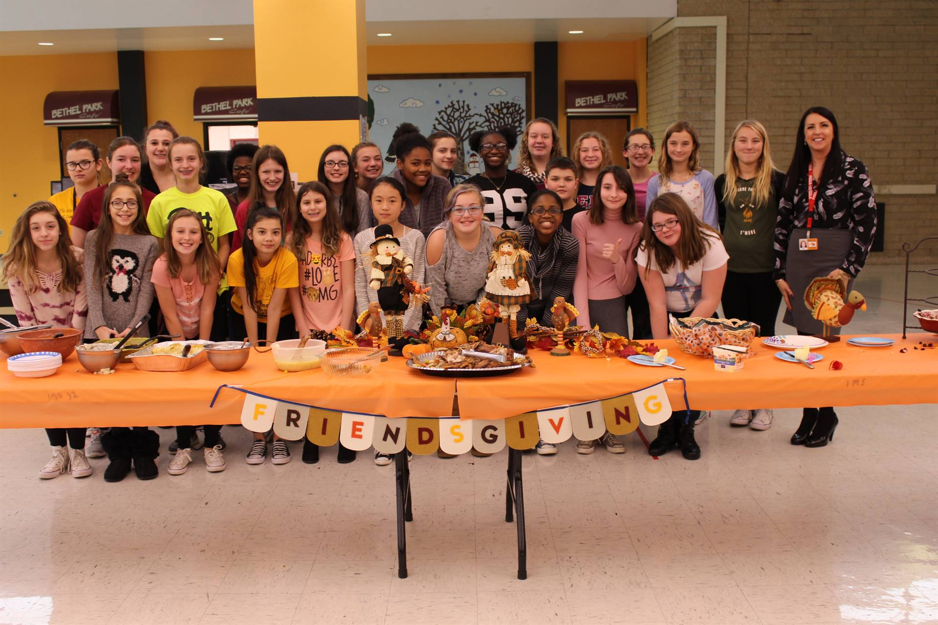 The FCCLA Club around the Friendsgiving table