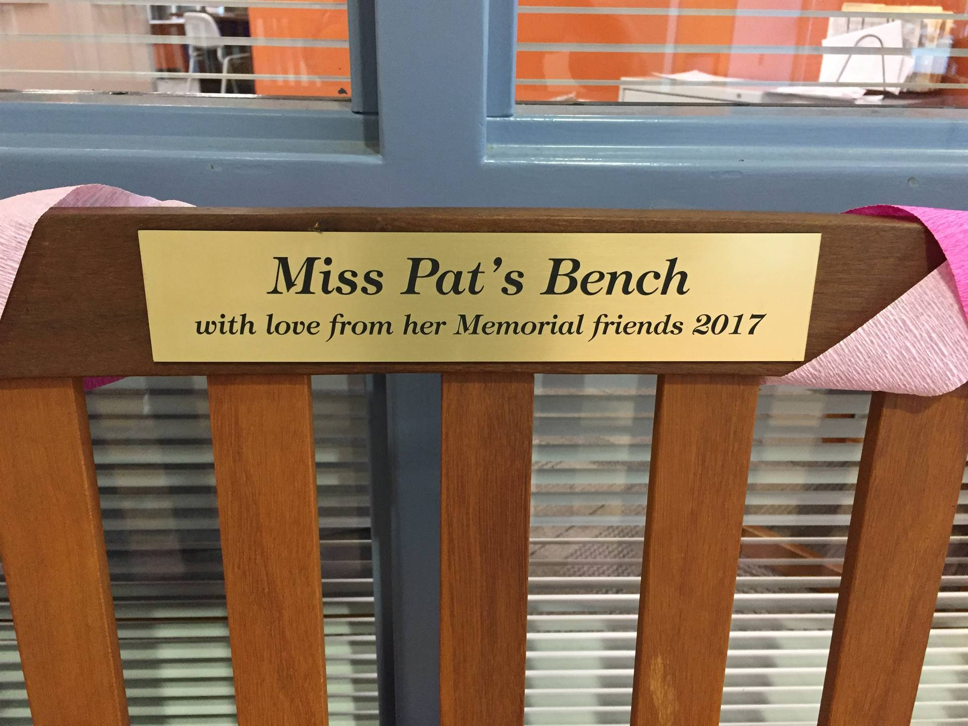 Miss Pat's Bench