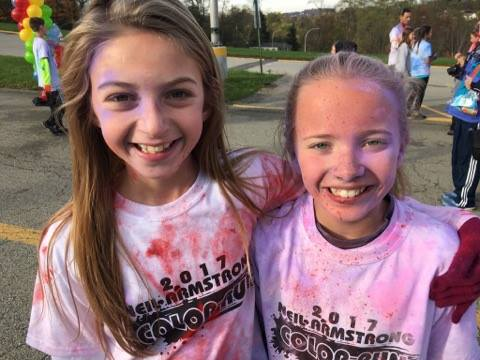Having fun at the Color Run