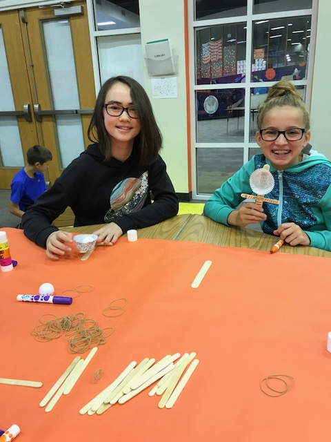 Students build their catapults