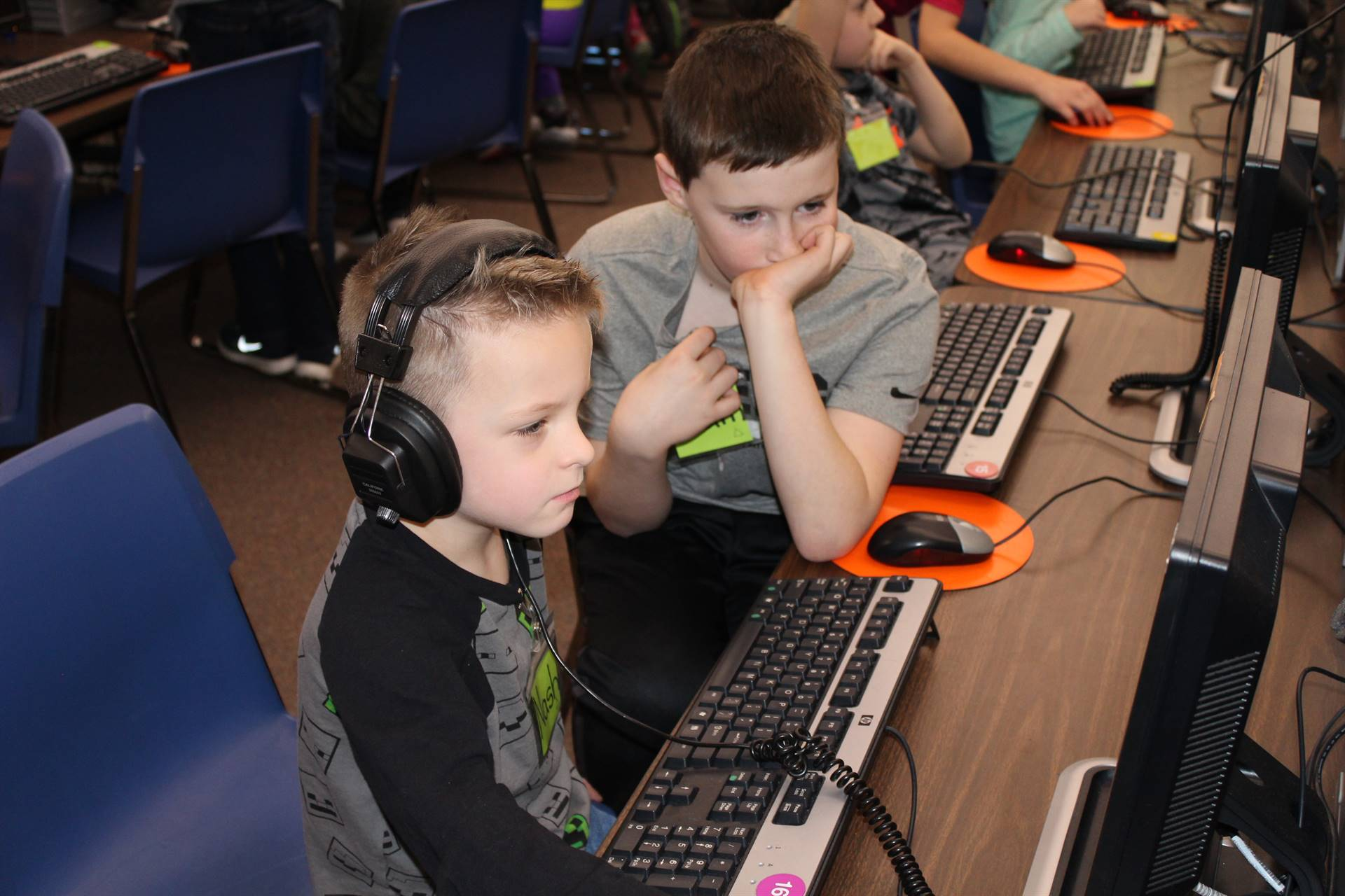 Students work in pairs in the Computer Lab