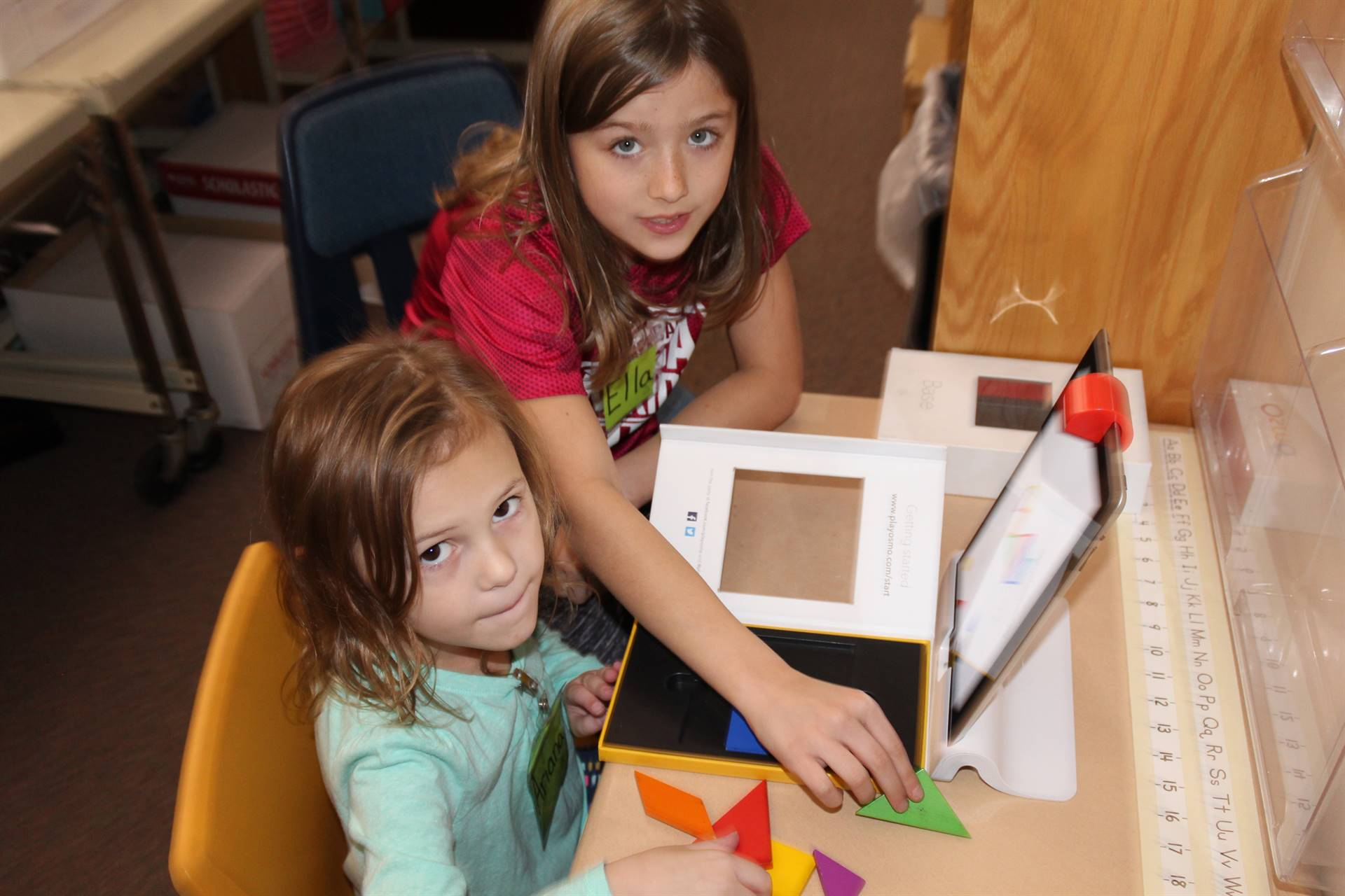 Students use OSMO in the Computer Lab