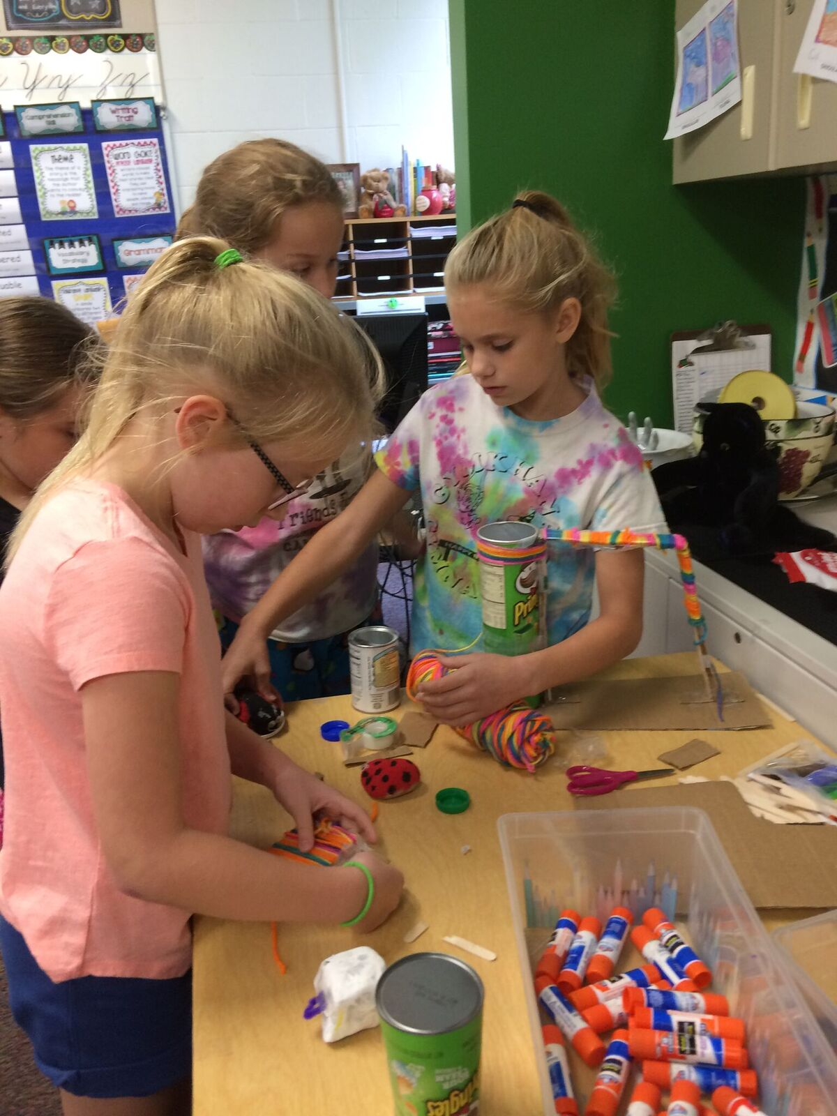 Working on their Pet Rock Playground item