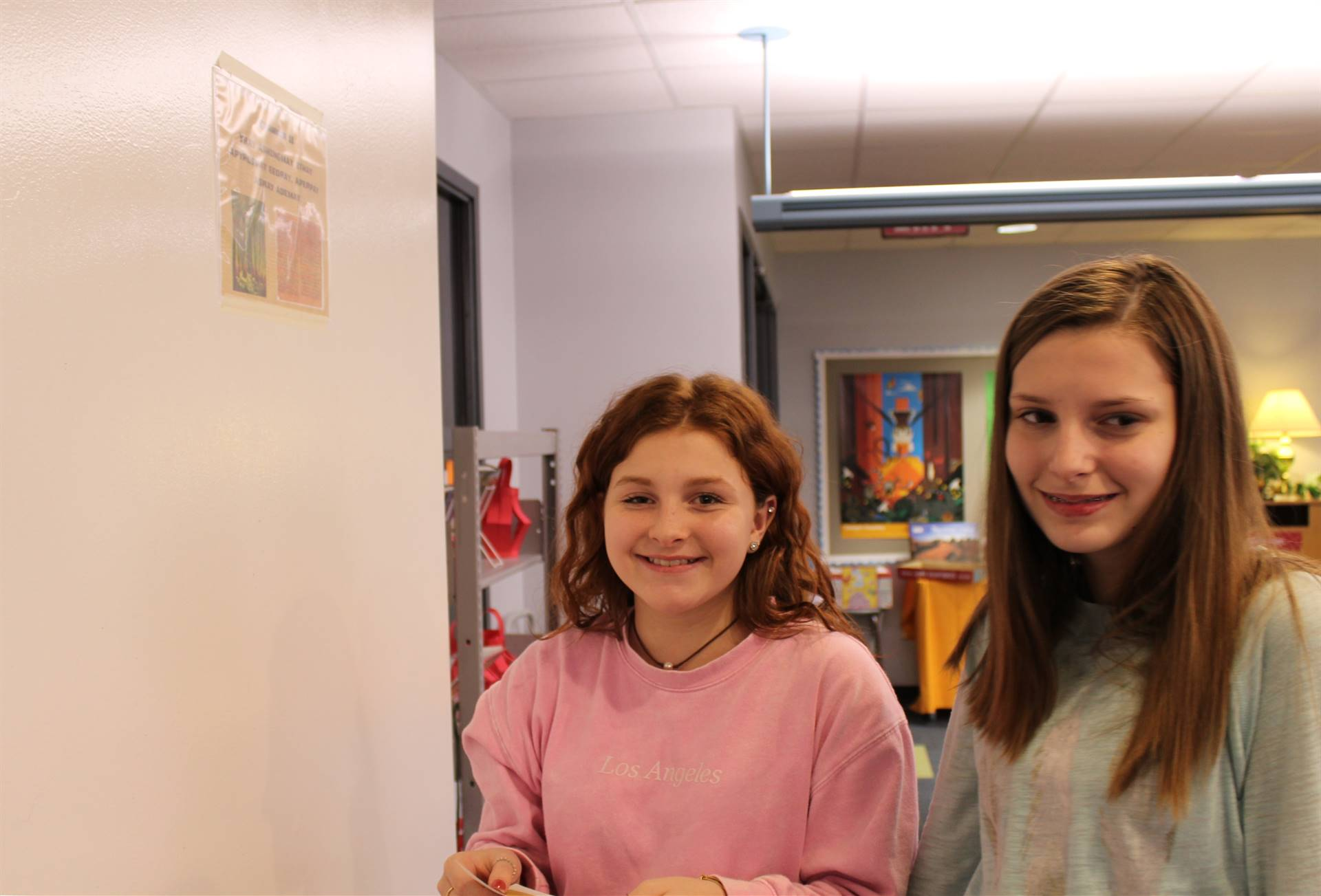 Students find the clues throughout the IMS Library