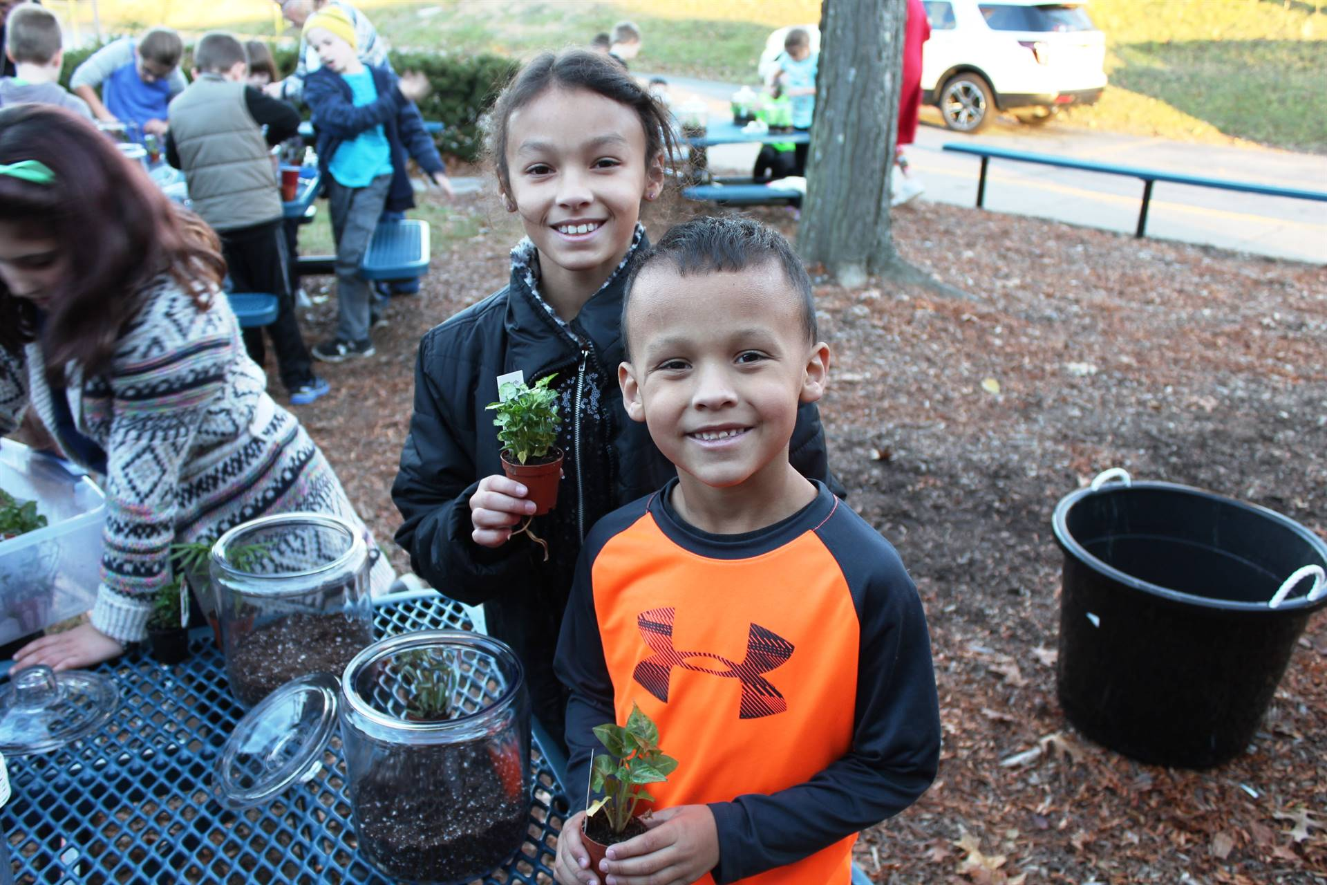 Lincoln students have fun making terrariums