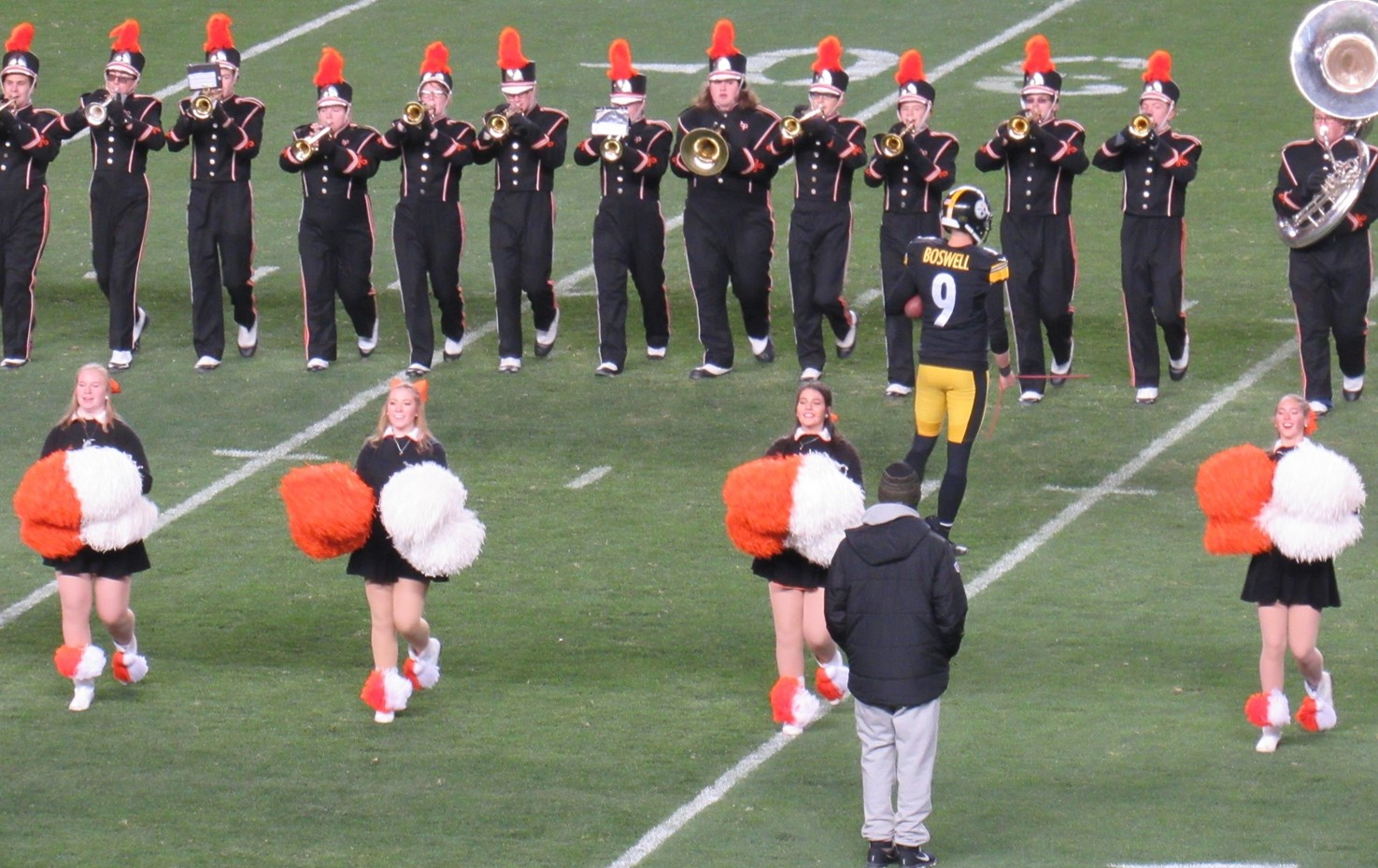 The BPHS Marching Band at Heinz Field