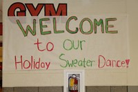 The sign welcoming everyone to the dance