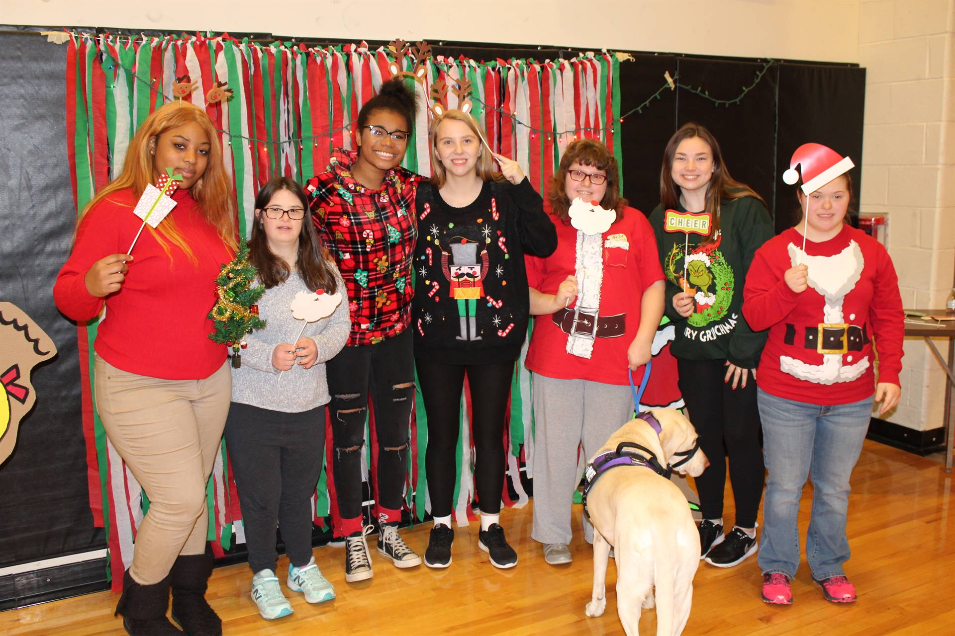 BPHS students at the Holiday Sweater Dance
