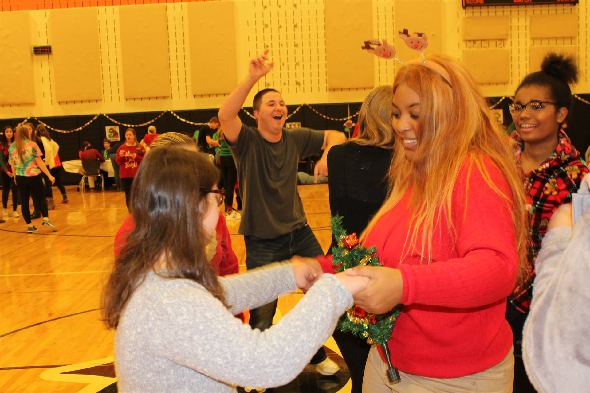 Dancing at the Holiday Sweater Dance