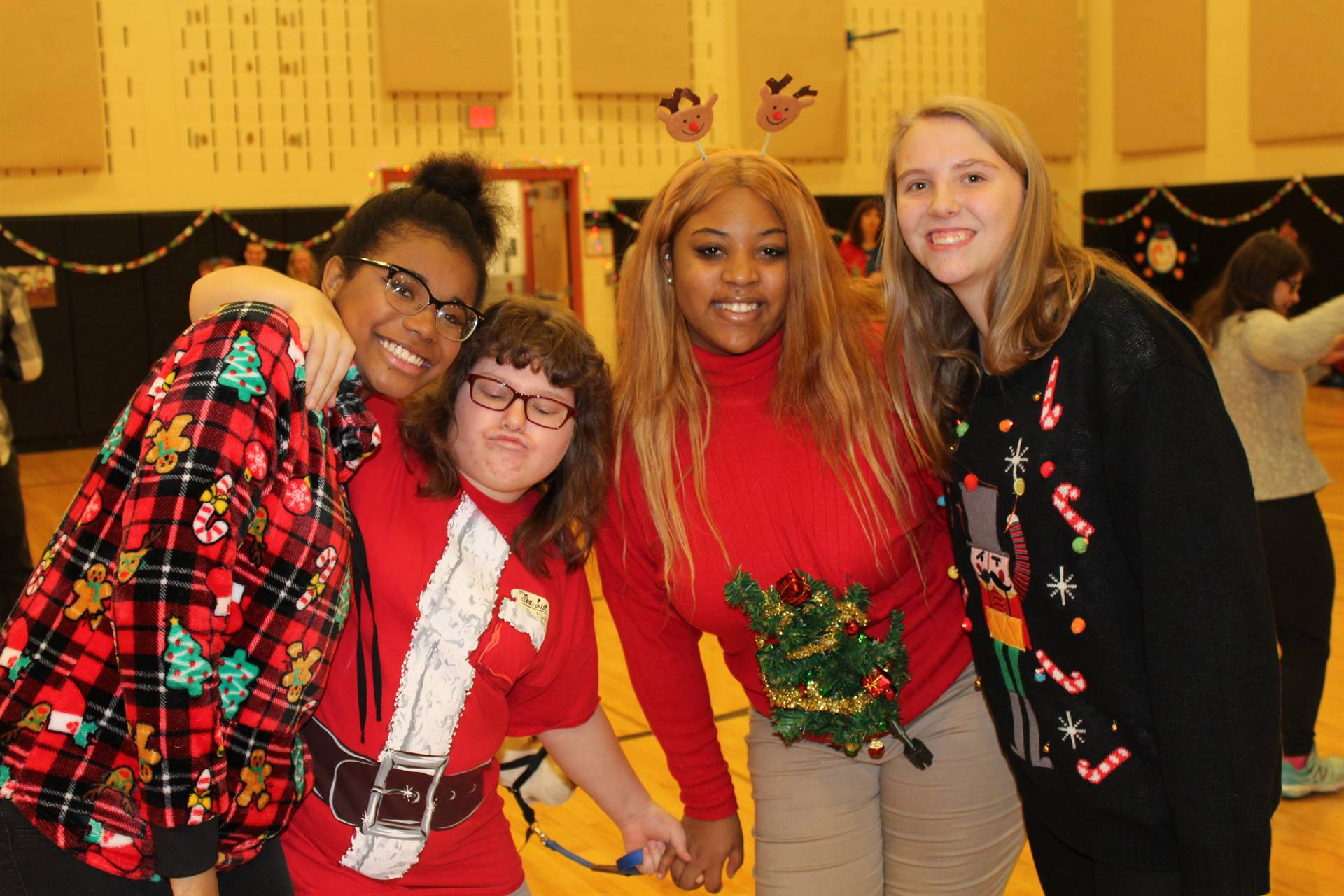 Students at the Holiday Sweater Dance