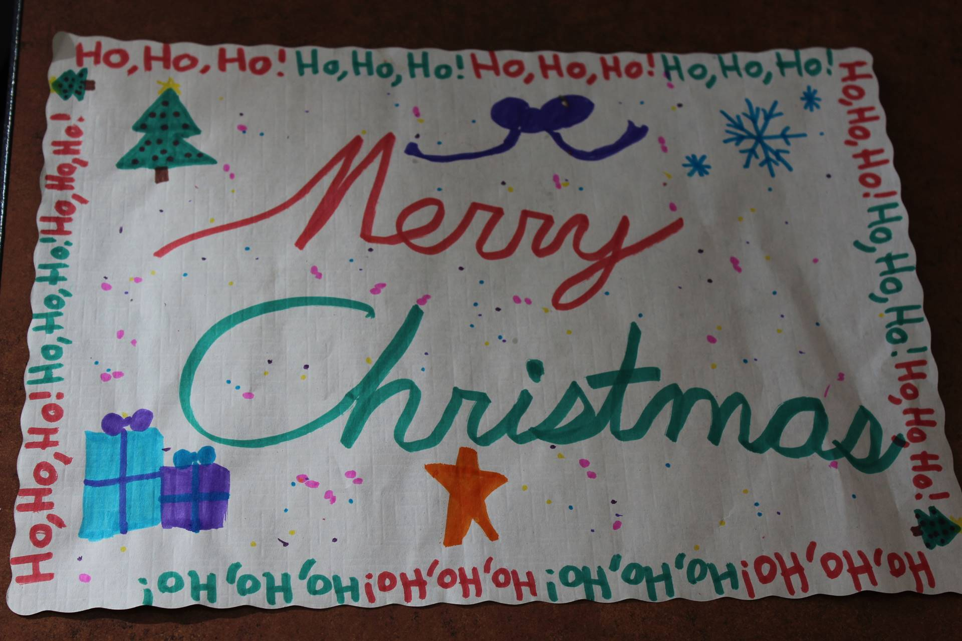 A holiday place mat