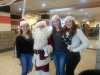 SGA Students with Santa