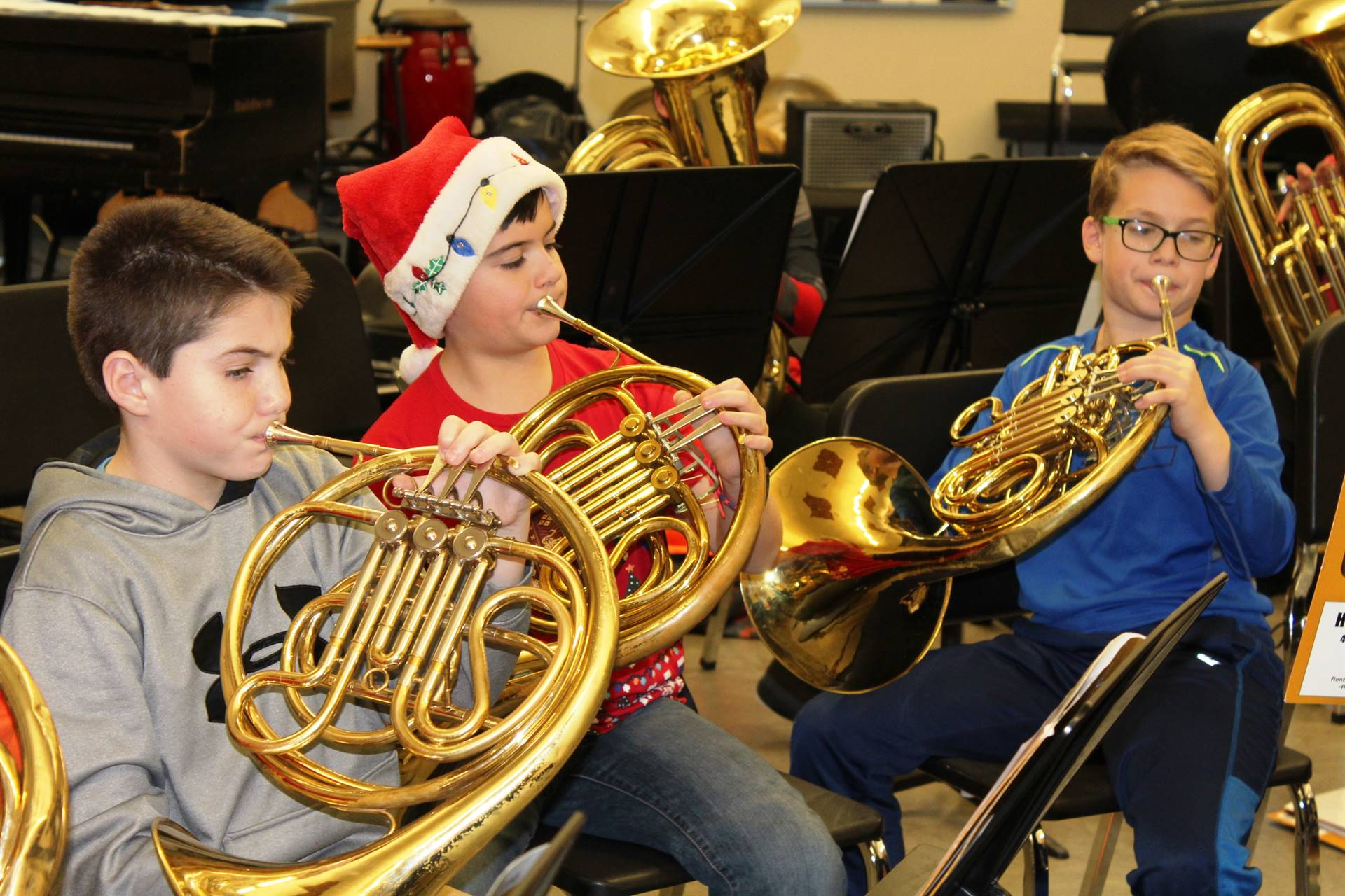 NAMS musicians rehearse for Brass Day