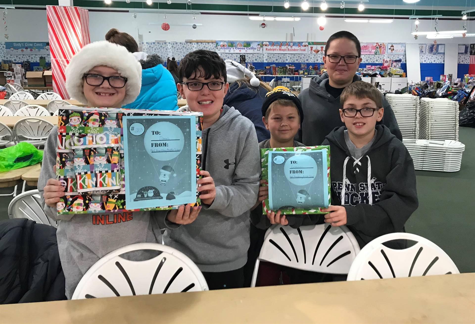 Team Eclipse students on their Operation Santa Shopping Trip