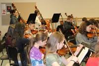 Strings Day rehearsal