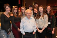 Mr. Chandler and a group of BPHS students