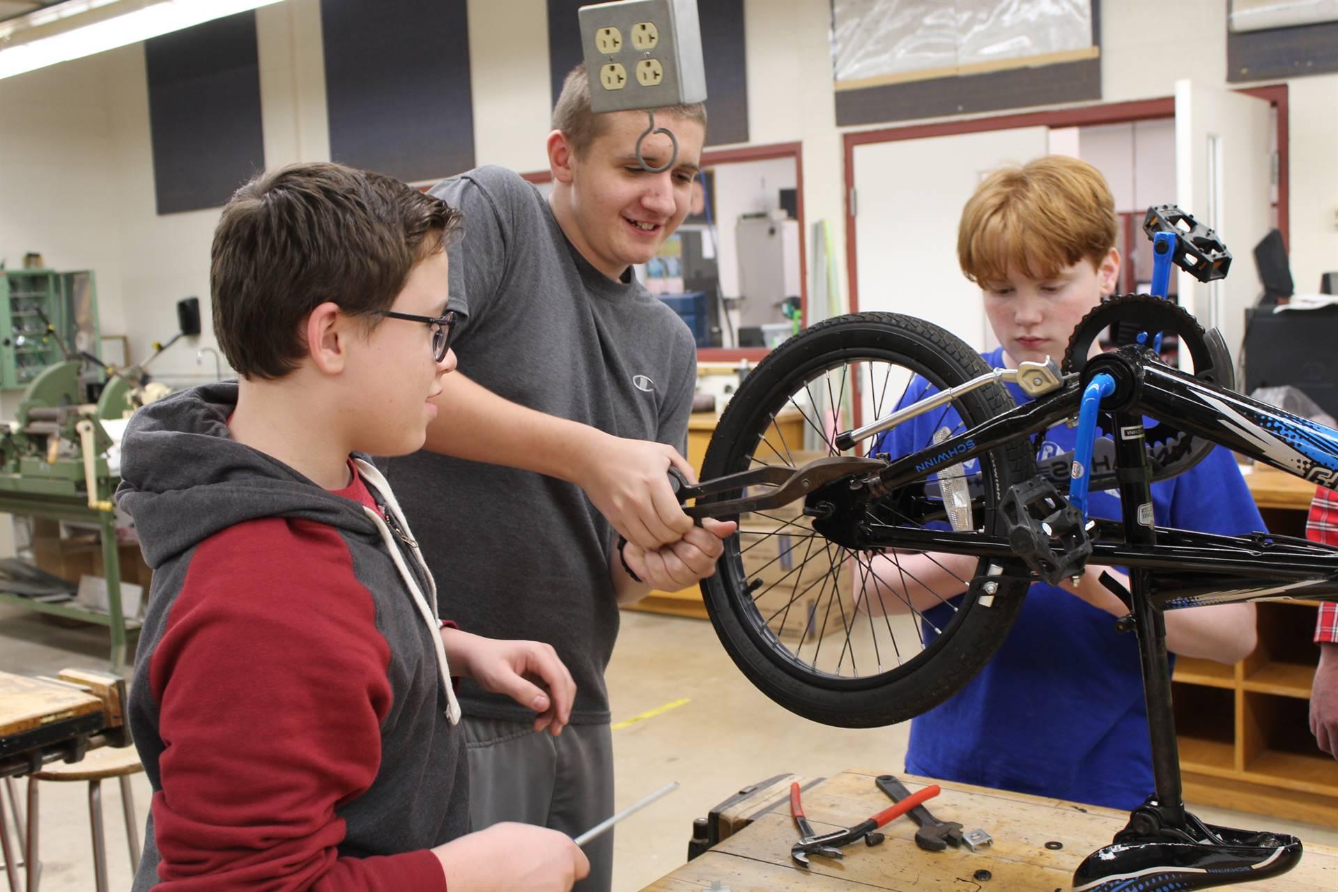 Taking the bike apart
