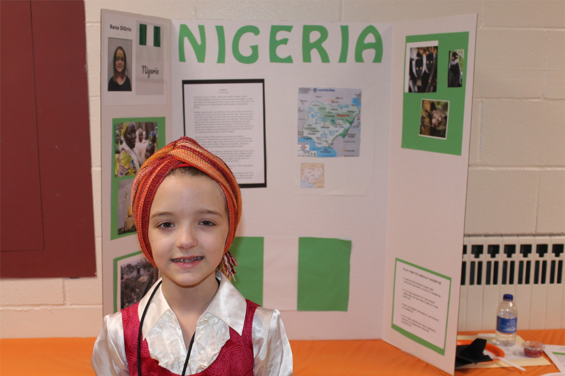 Students presented different countries at the Elementary Gifted Expo