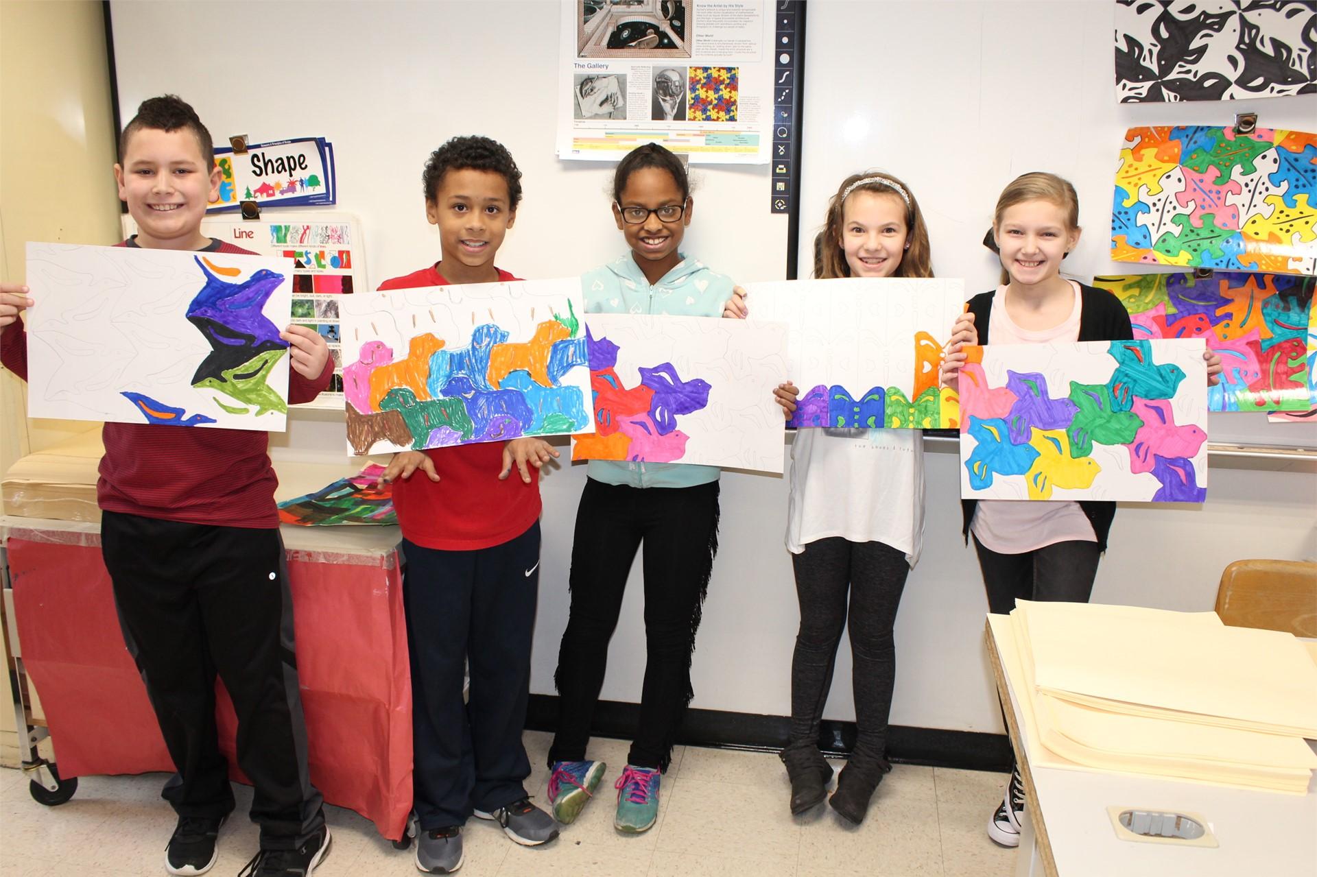 Fourth grade tessellation artwork