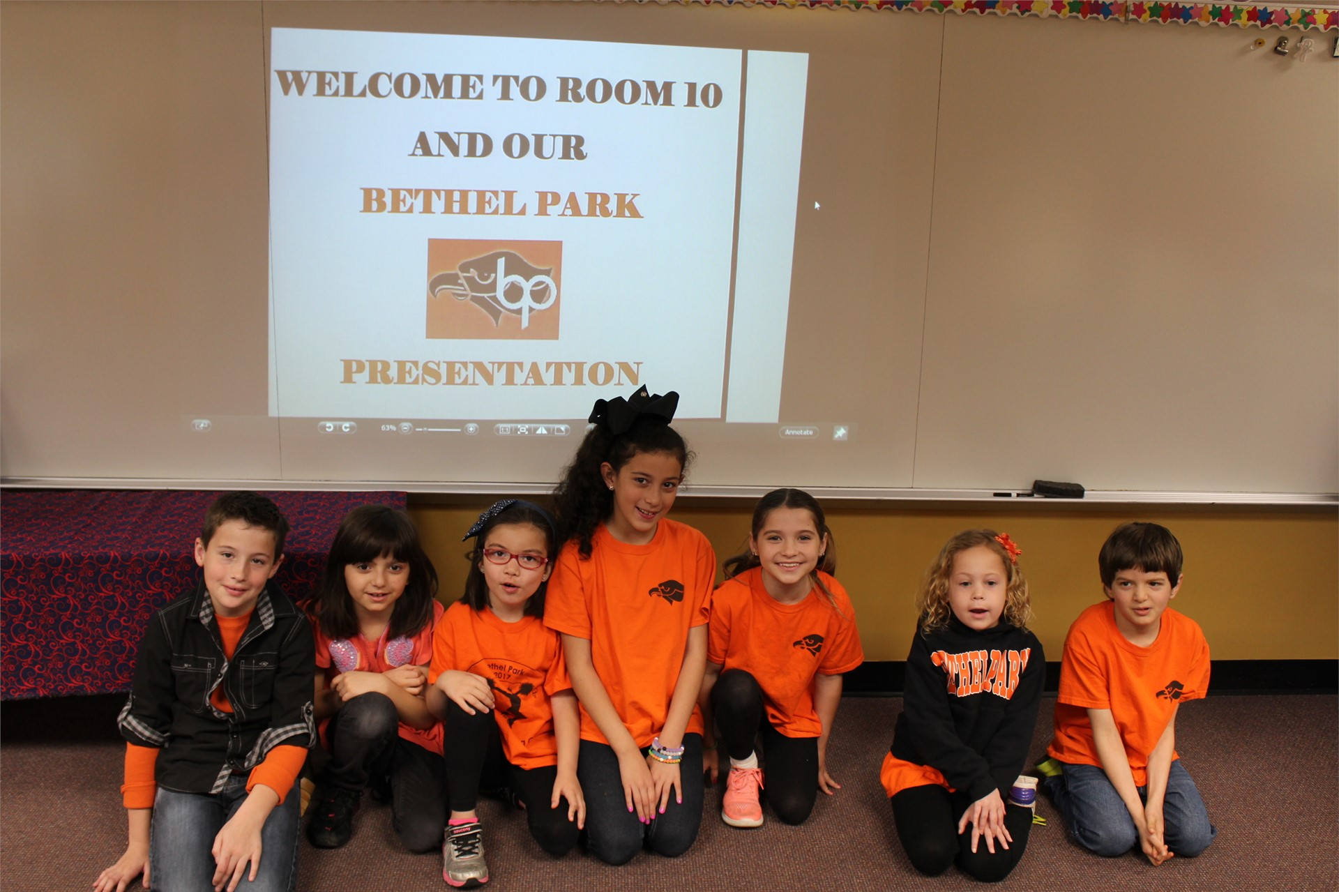 Students give presentations about their favorite places in Bethel Park