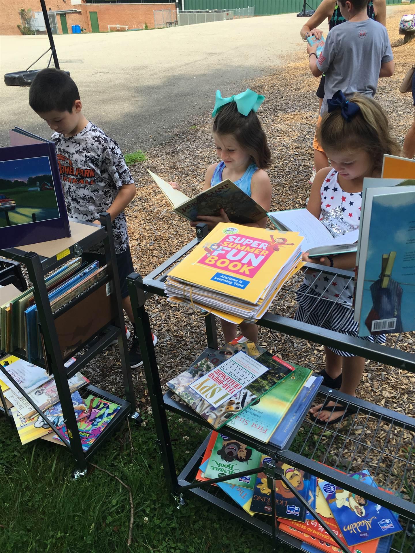 Students were able to select two books at the Pop Up Library