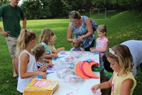 Craft making at the Pop Up Library