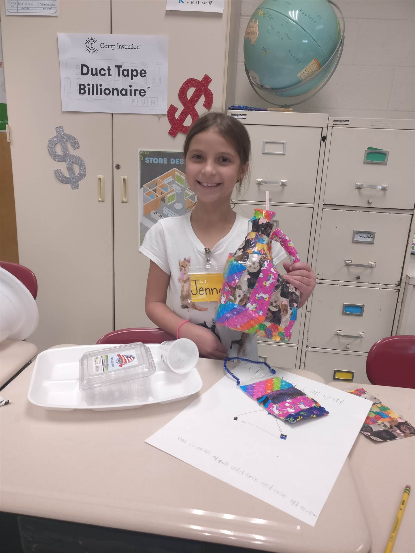 Students enjoyed creating products for the Duct Tape Billionaire module.