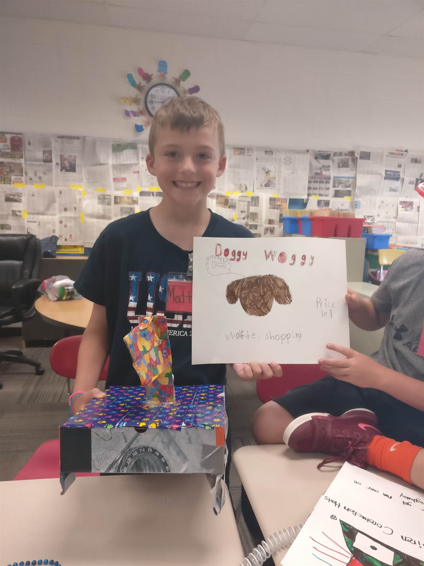 This student created the Doggy Woggy product to market and sell in the Duct Tape Millionaire module.