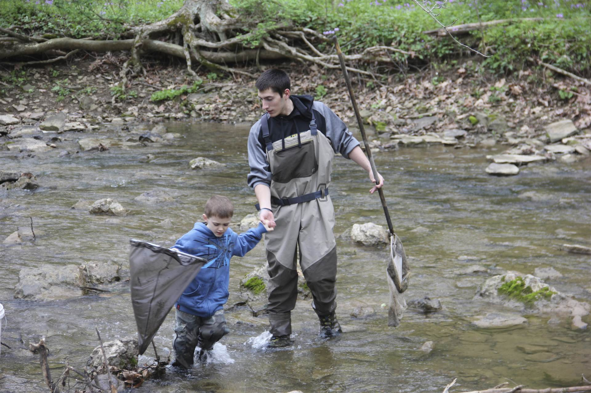 BPHS Environmental Science students collect samples from local streams.