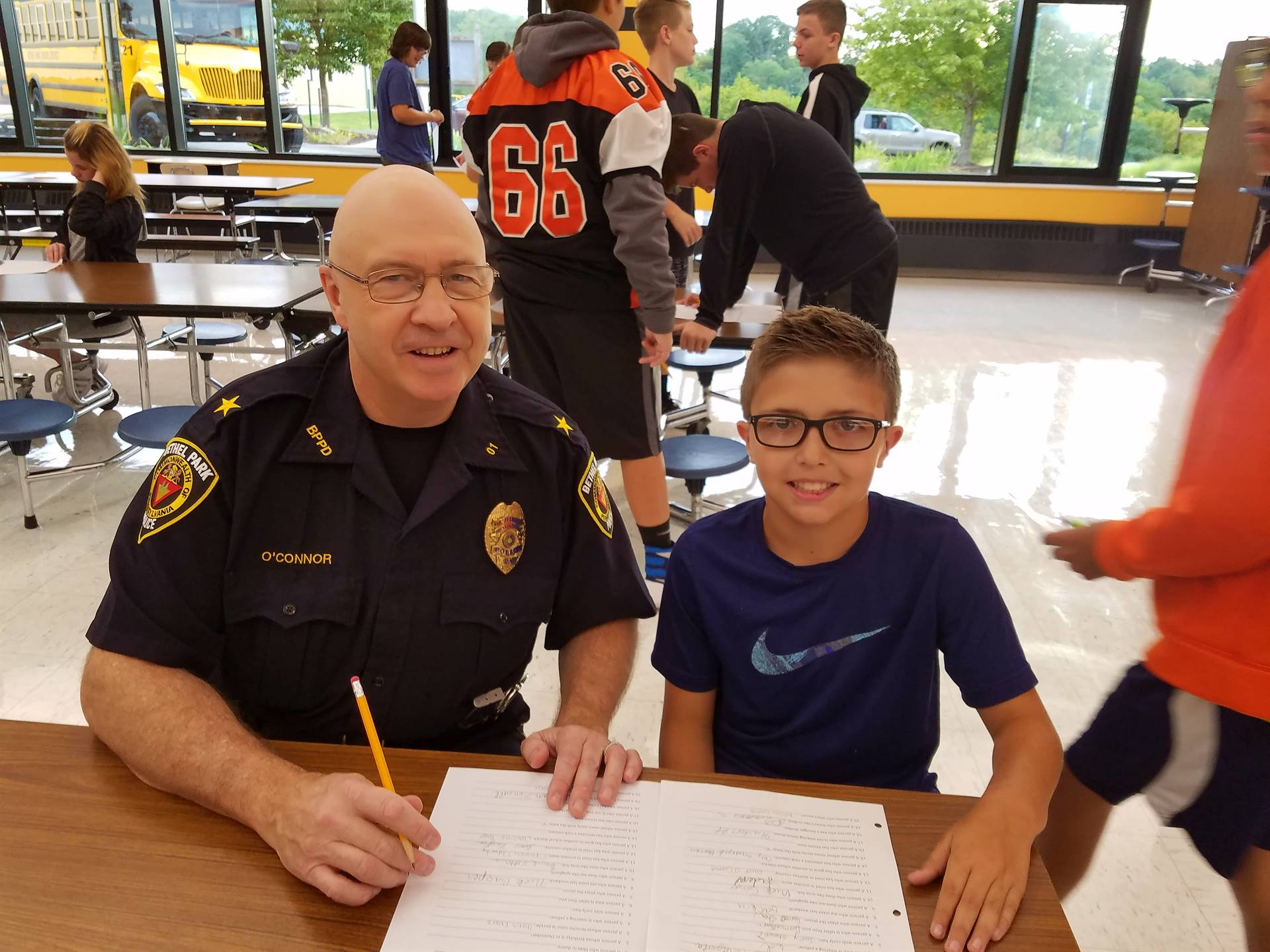 Police Chief Tim O'Connor visited Team 7C's first team day