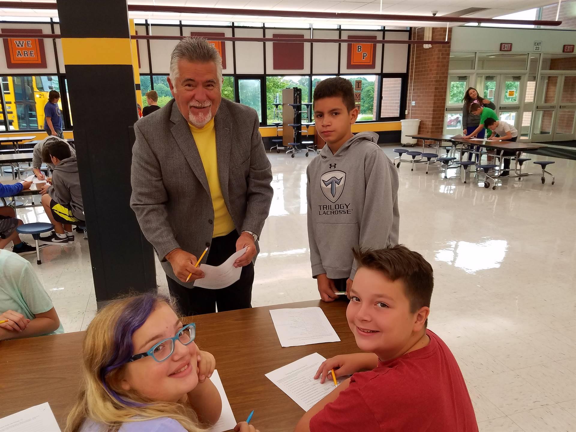 Mayor Jack Allen visited Team 7C's first team day