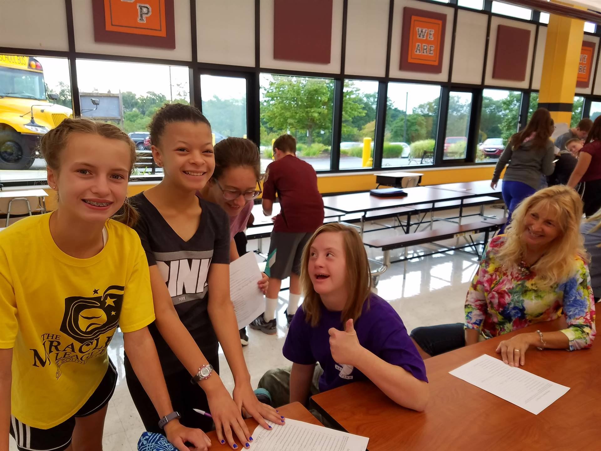 Students were all smiles on their first team day.