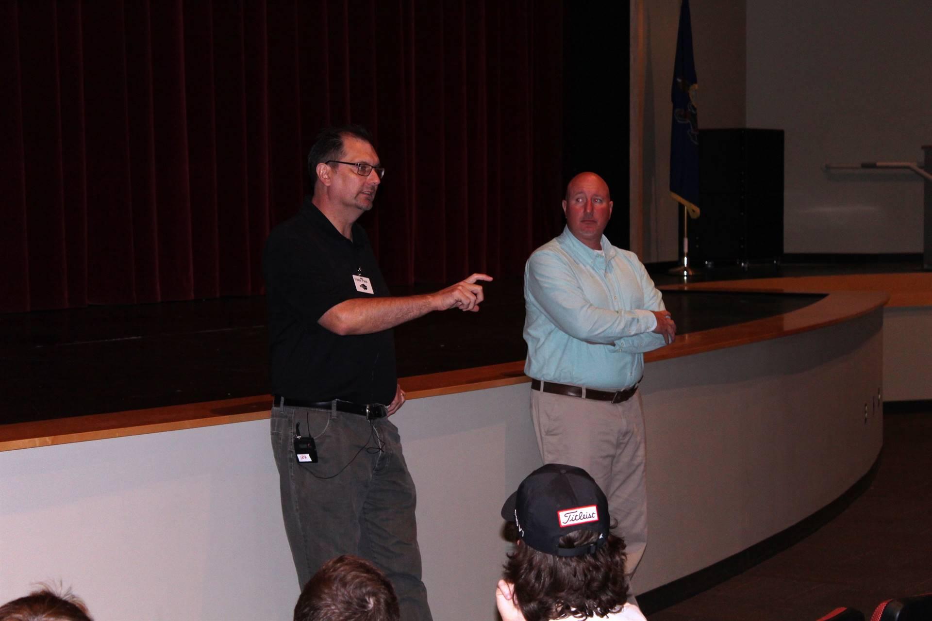 Mr. Barkley and BPHS Social Studies Teacher Mr. DiPrampero