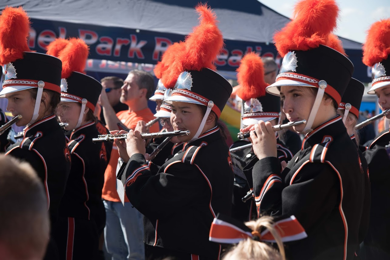 The Band performs after the Parade