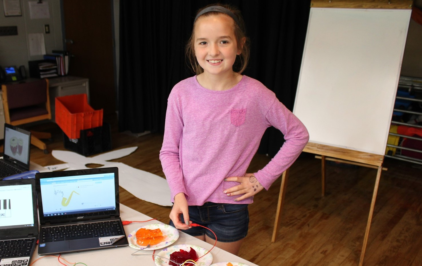 Washington Fourth Graders Use Makey-Makeys To Make Musical Instruments
