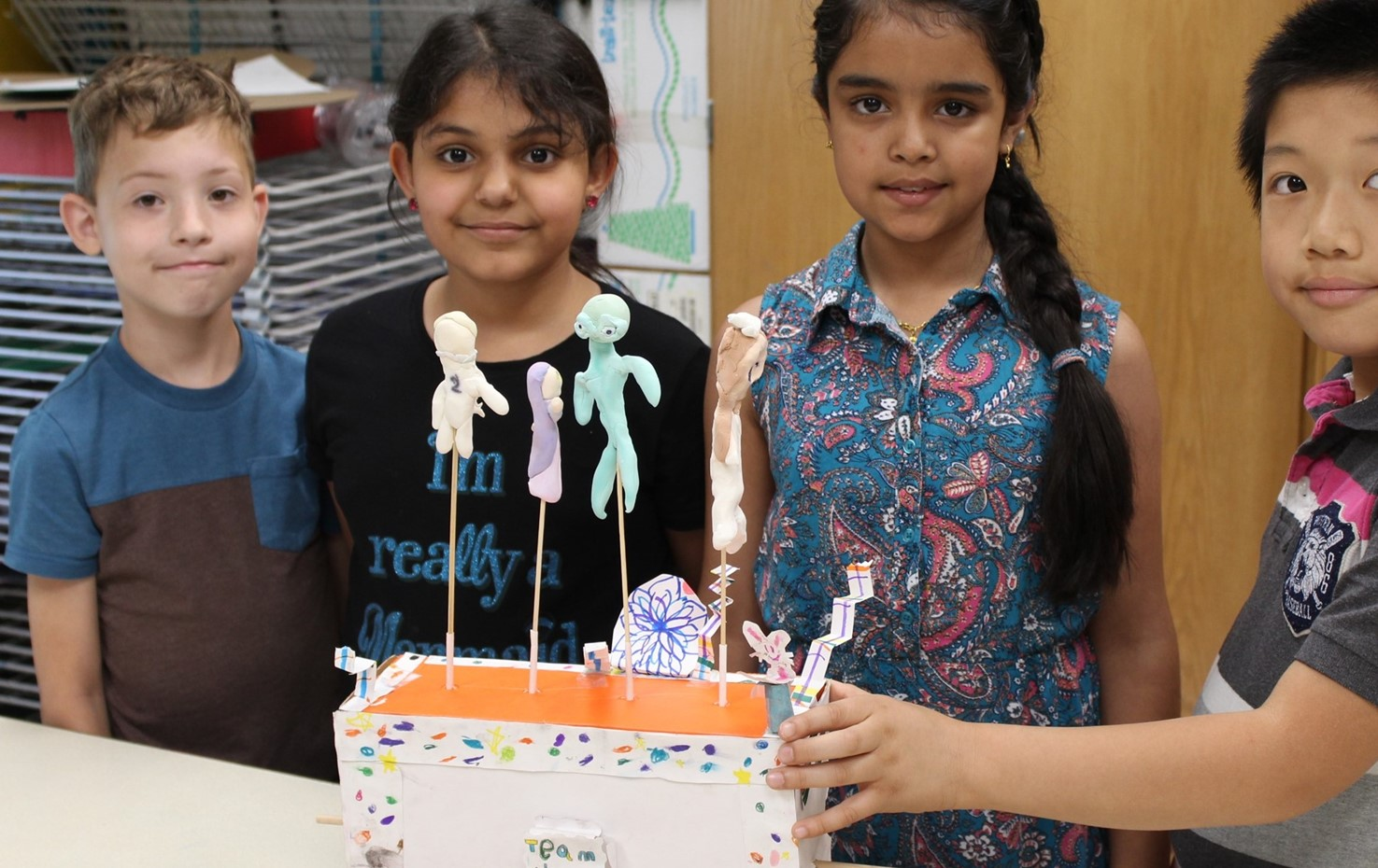 Memorial Students Make Dr. Seuss-Themed Sculptures