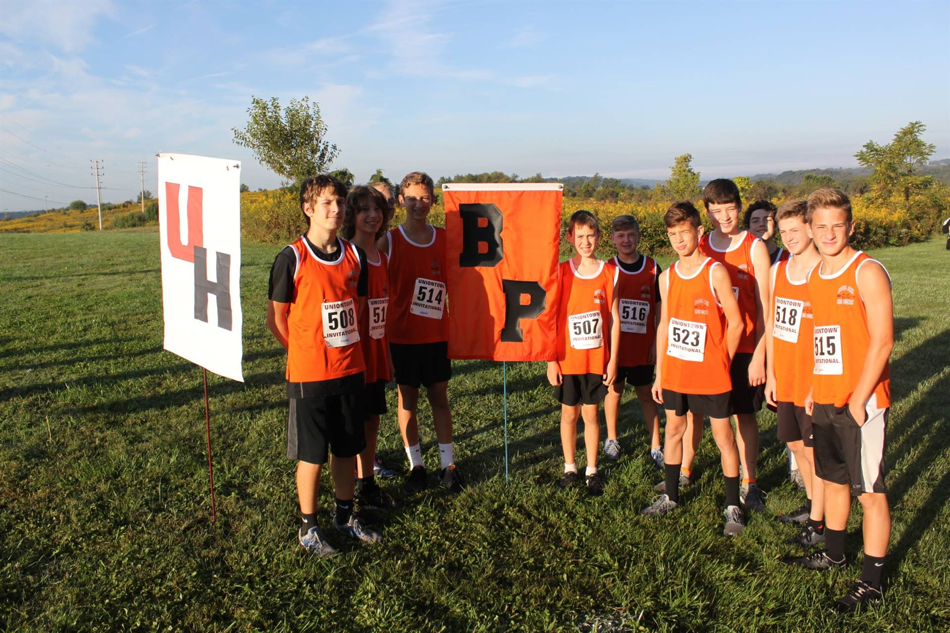 IMS Boys Cross Country Team at the Uniontown Invitational