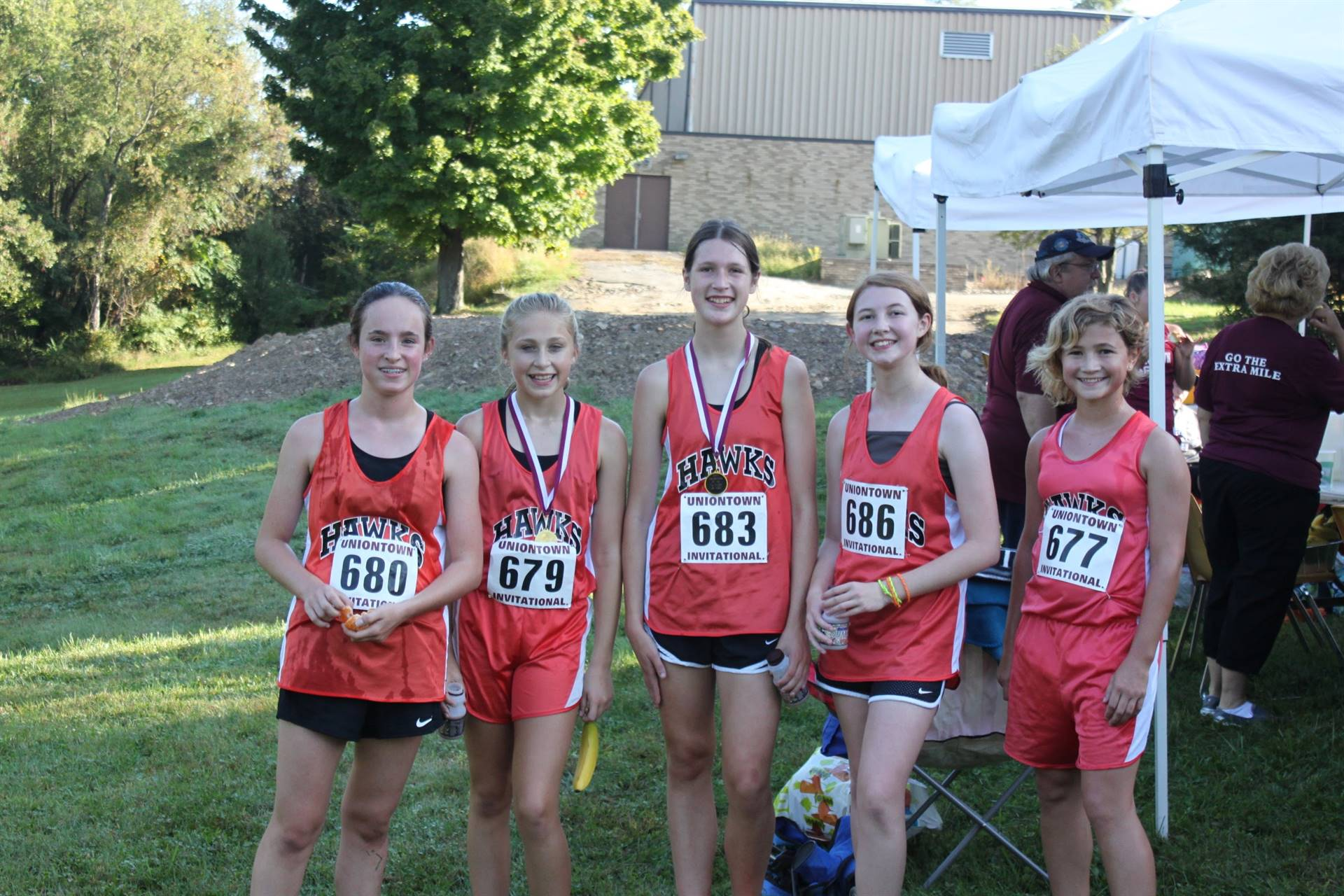 The IMS Girls Cross Country Team at the Uniontown Invitational