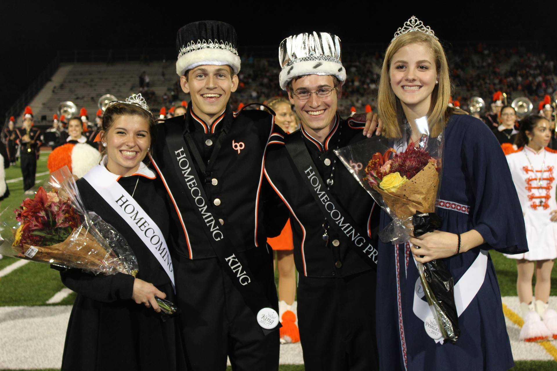 Homecoming Queen, King, Prince and Princess