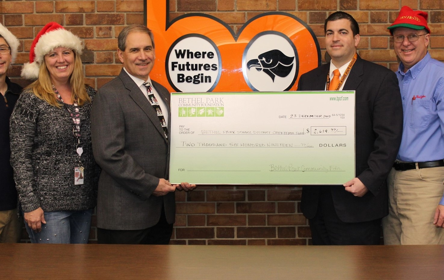 Check Presentation From The Bethel Park Community Foundation