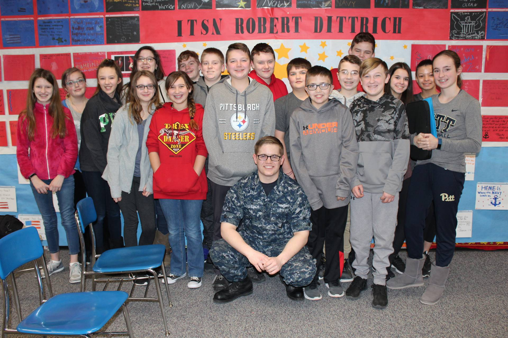 The students with ITSN Robert Dittrich