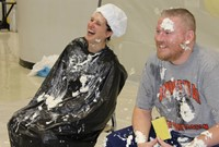 Ms. Rylander and Mr. Patterson laughing