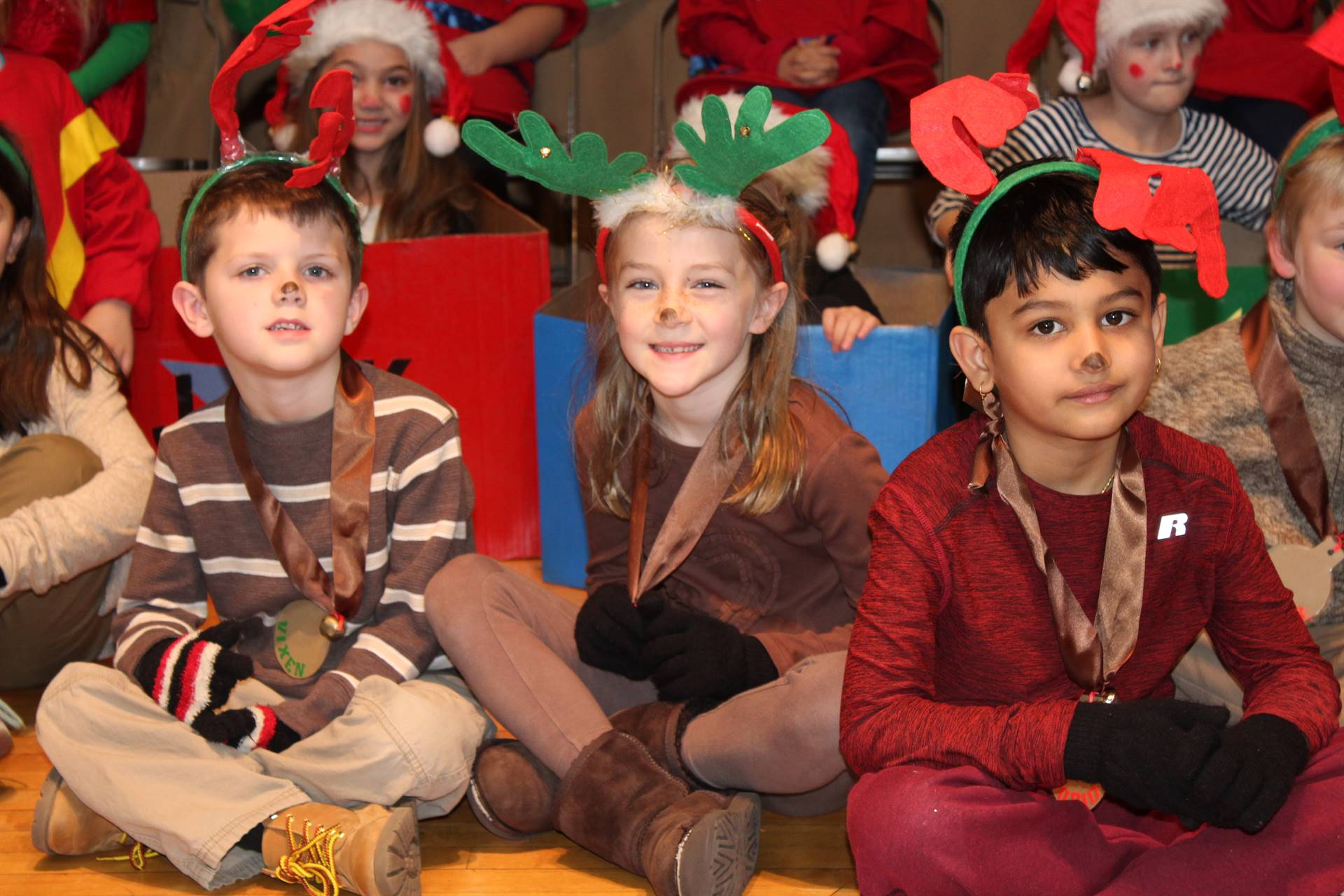 First Grade Christmas Play reindeer