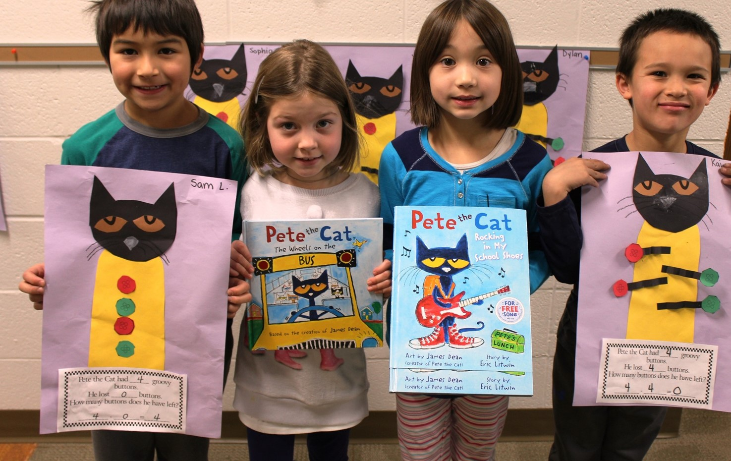 Washington First Graders Love Pete The Cat