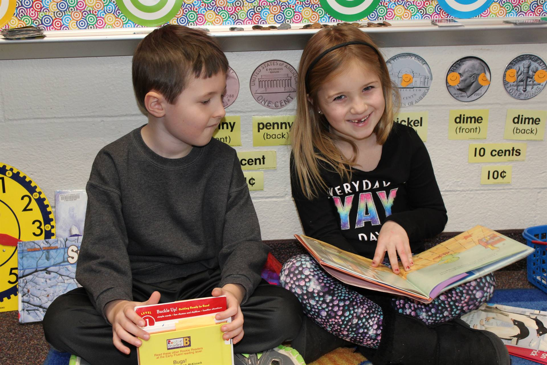 First graders doing partner reading