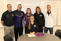 Natalie DiGiorno with her parents and her High School and College Coaches