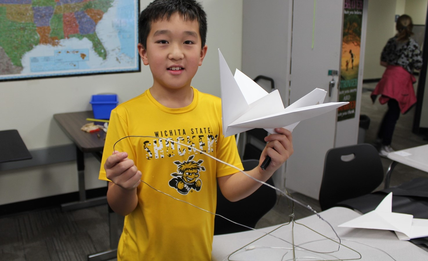 Student with his Challenge Based Learning Project