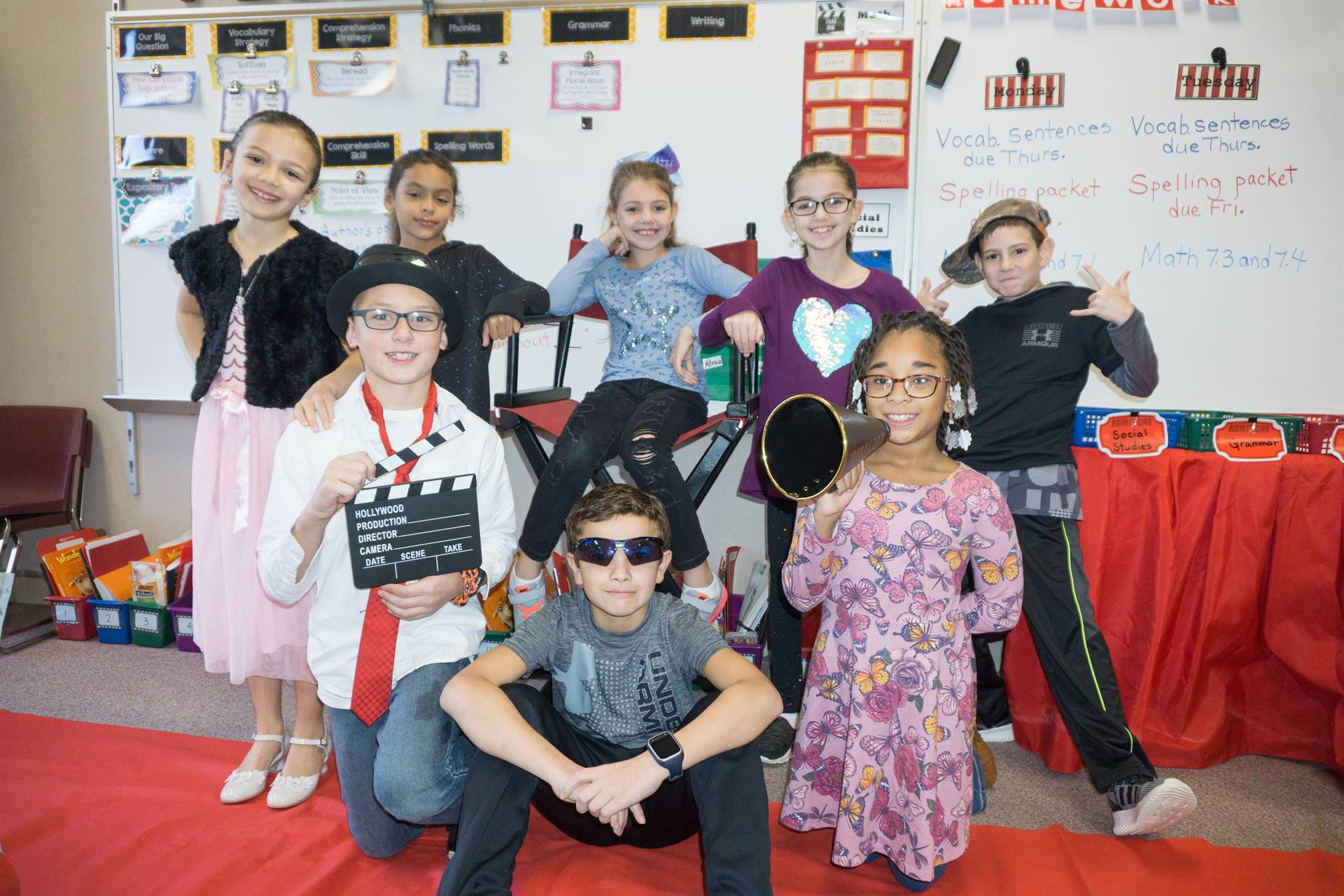 Franklin Students on Hollywood Dress Up Day