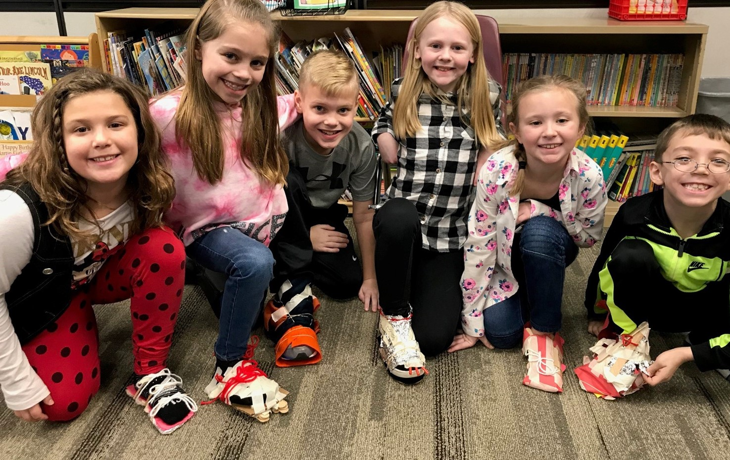 Memorial Second Graders Make New Shoes