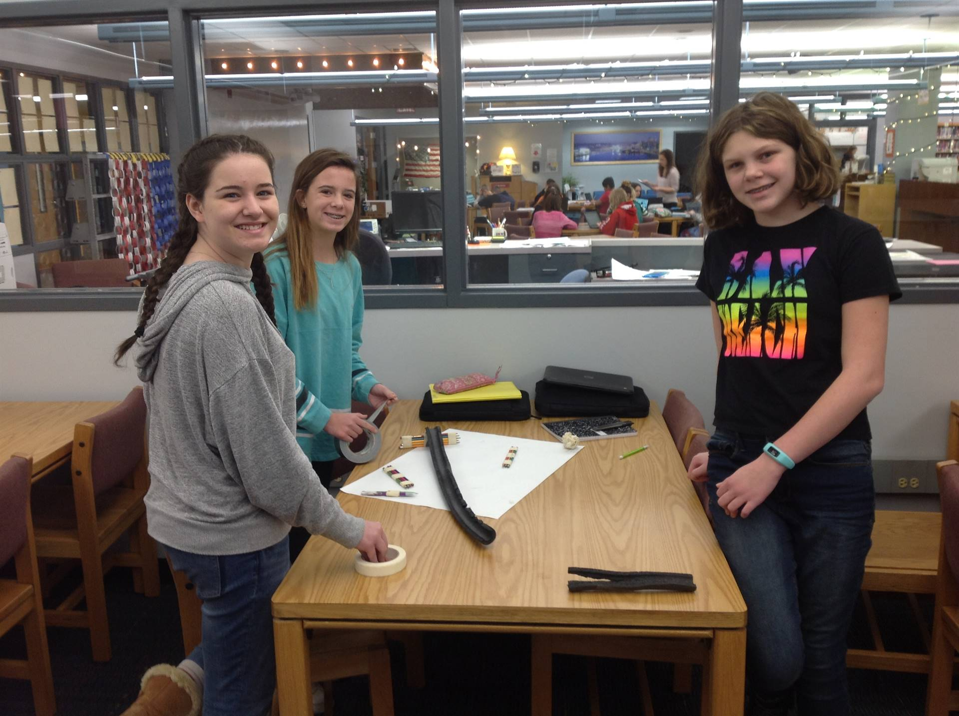 "Mrs. Evan's 8th grade ""Slow Marble Roll"" project"
